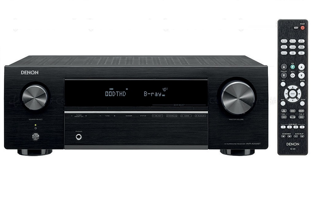 AV Ресиверы  Denon AVR-X250BT Black